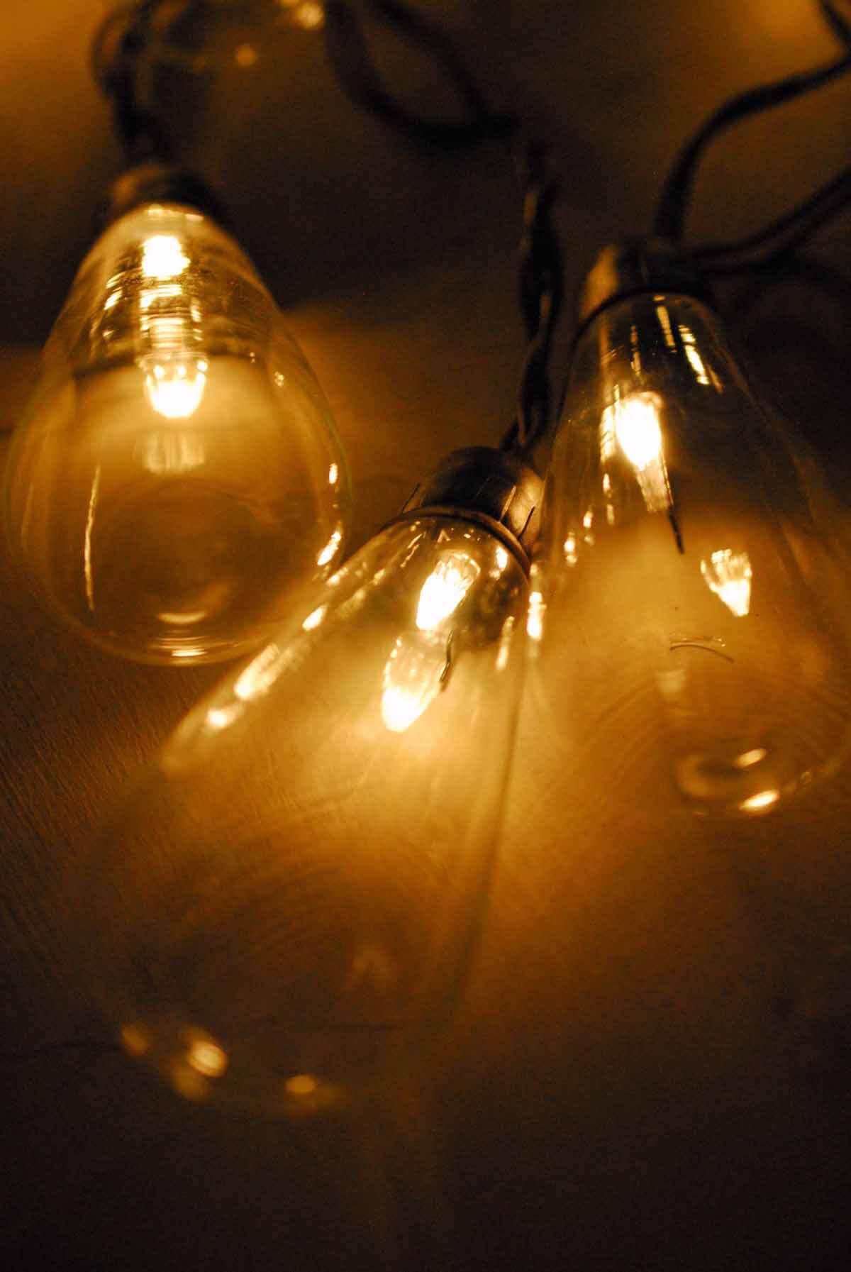 Marconi Bulb Solar Powered String Lights LED 6ft  10ct