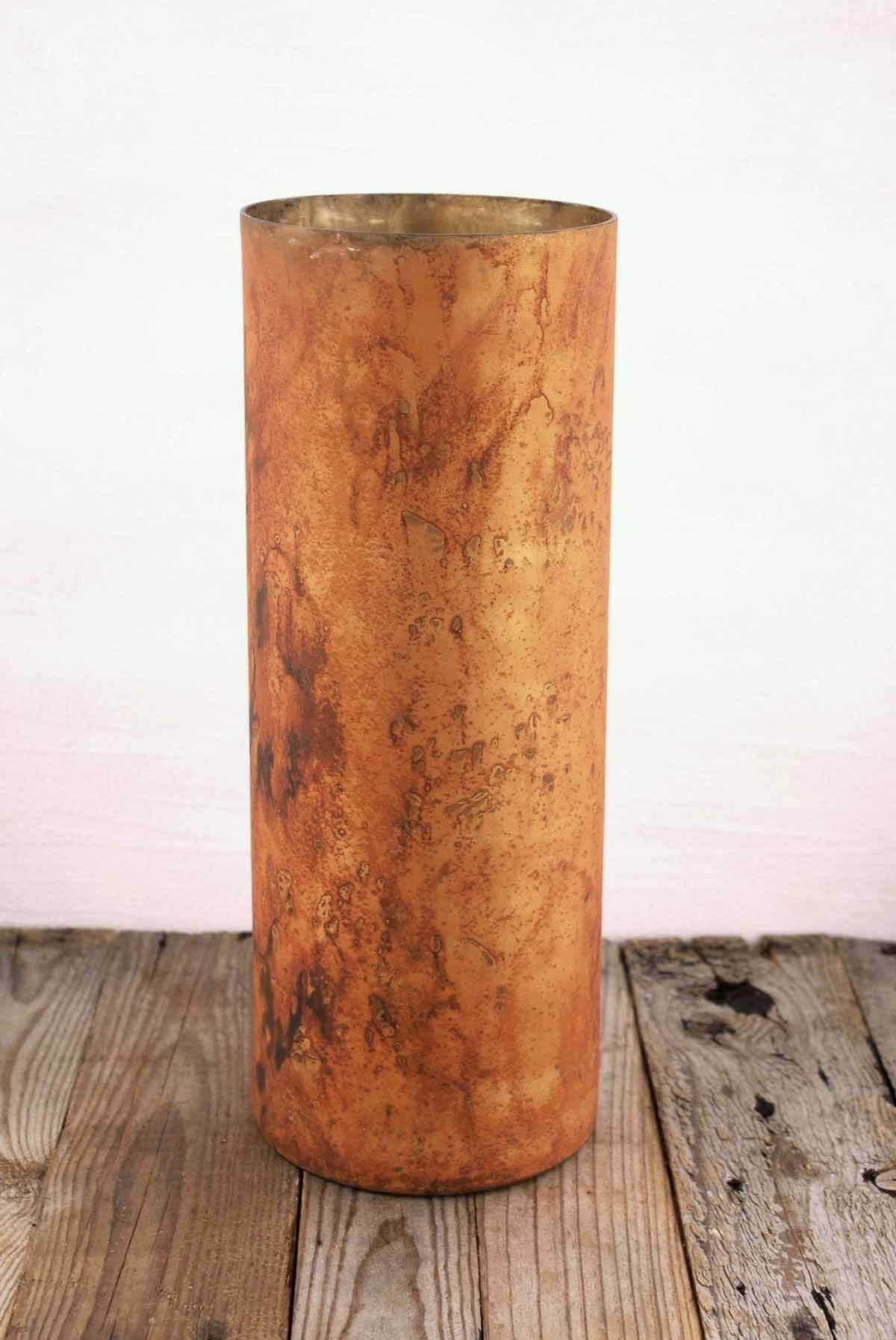 Marbled Cylinder Vase Copper 165in