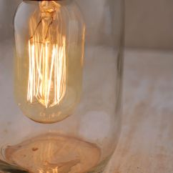 Kitchen Themes Decor Banquettes For Sale Gerson Electric Lighted Clear Mason Jar With Antique Light ...