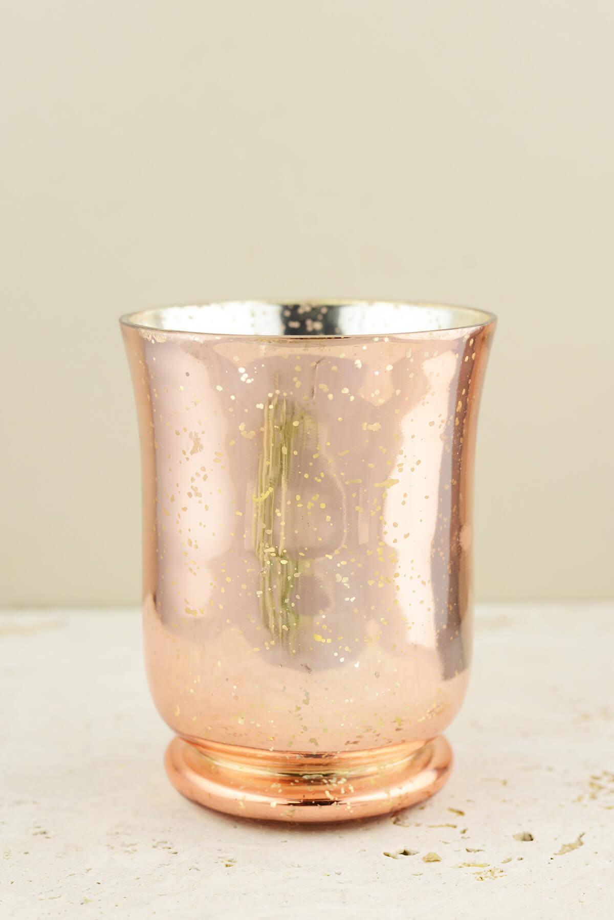 Blush Rose Gold Mercury Glass Vase Amp Candleholder 6in