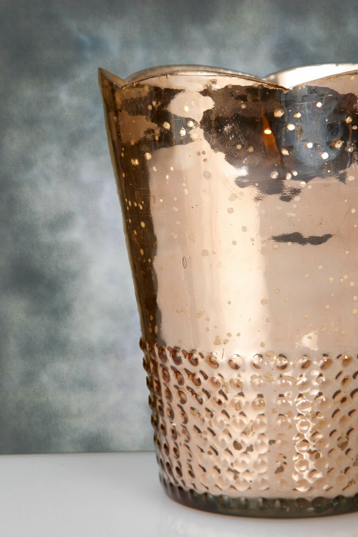 Rose Gold Mercury Glass Array Votive Candle Holders 75in