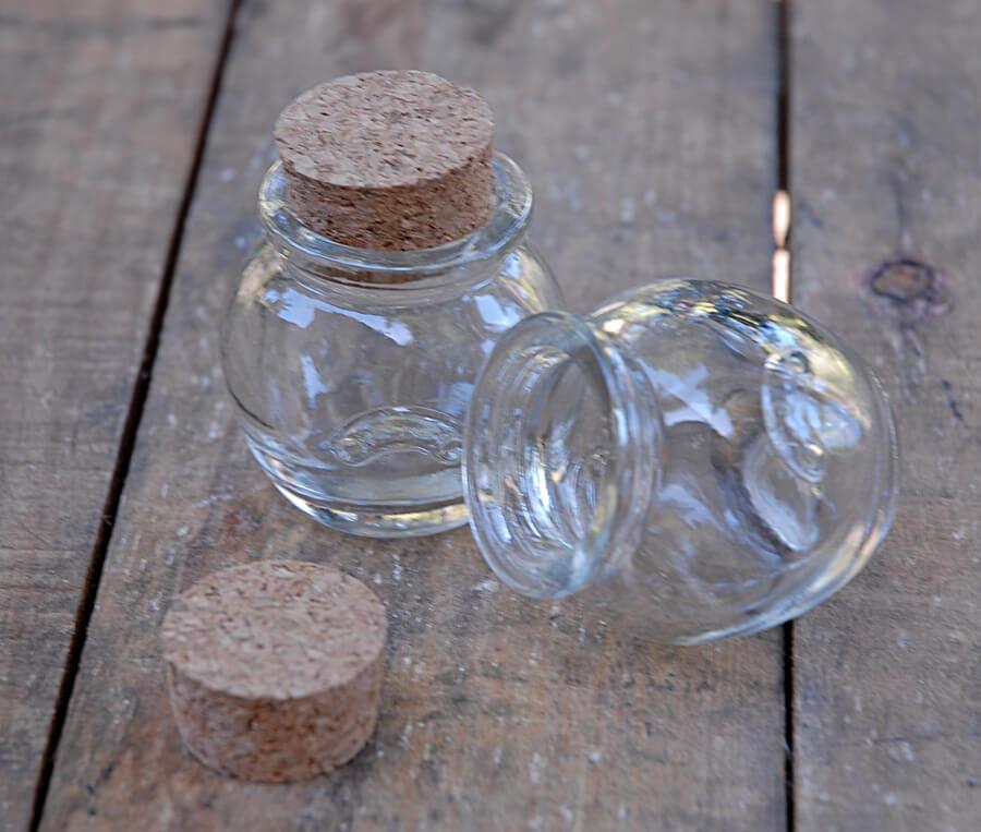 24 Mini Honey Jars With Cork Tops 12oz