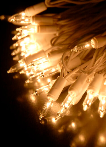 100 Indoor Mini String Lights 60 Feet White Cord