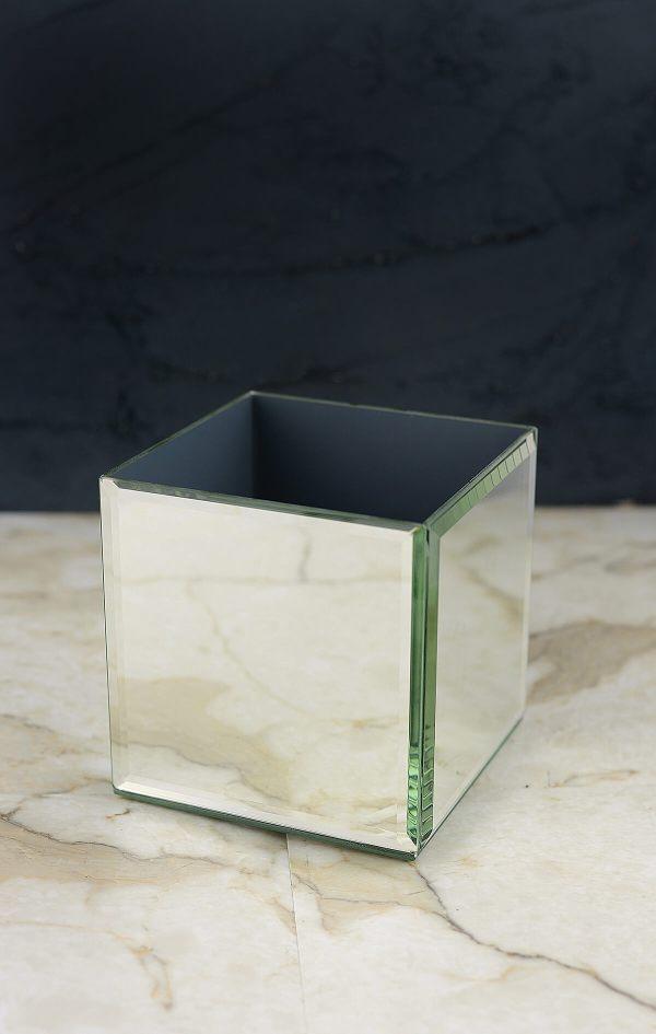 Mirror Cube Vase 4 Square