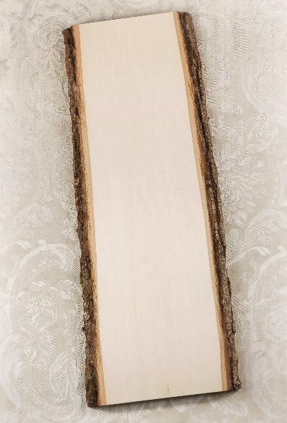 Wood Plank With Bark 23 X 9 11