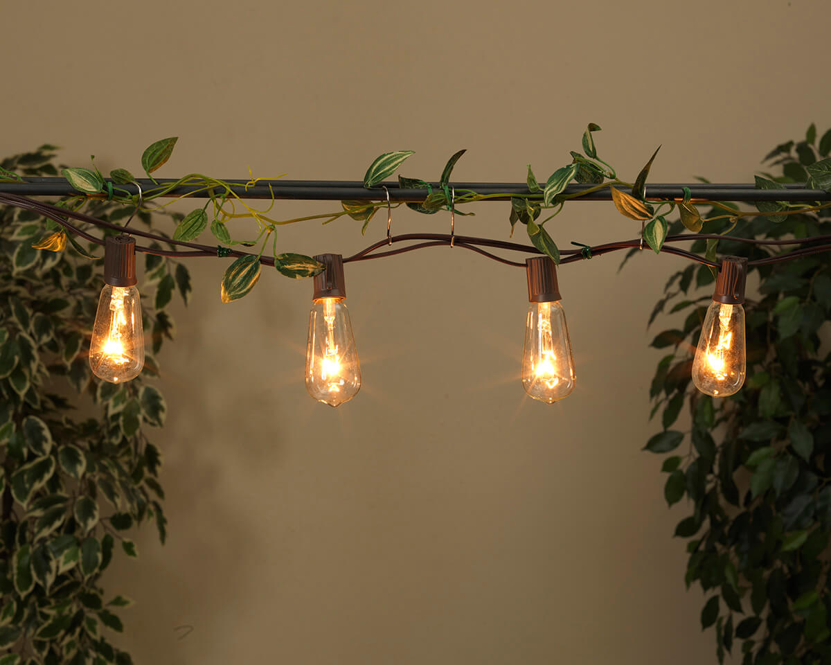 Patio Cafe String Lights 10ft 10ct ST40 Clear Bulbs