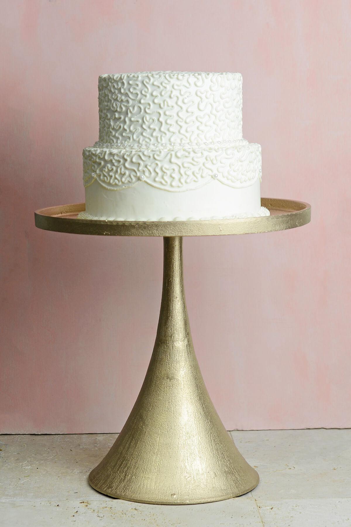 Champagne Meryl Pedestal Cake Stand Amp Vase 16