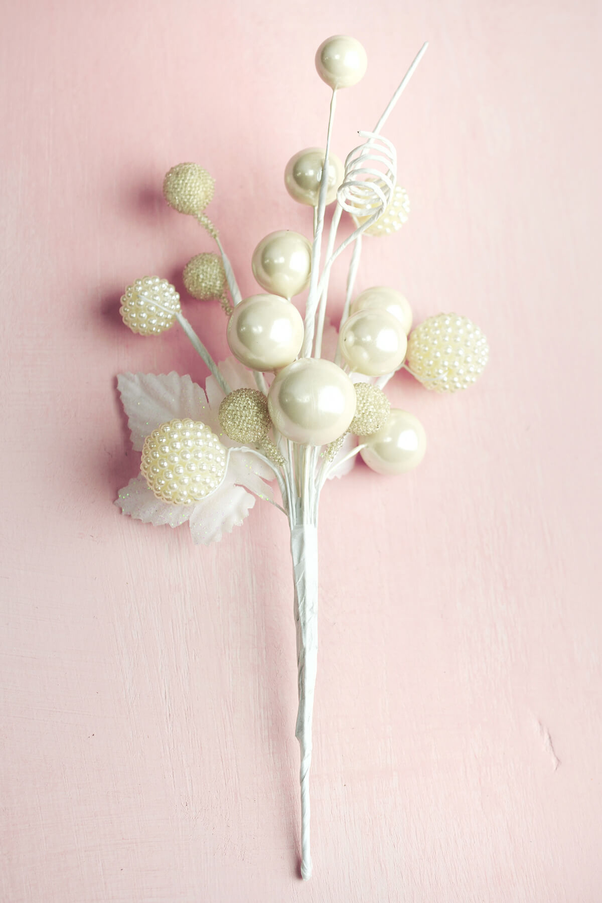 White Pearl Sprays 8 Floral Picks