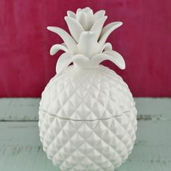 Tall Small Kitchen Table Pantry Cabinet Freestanding Exquisite Bala Lidded Pineapple Jar 7.5