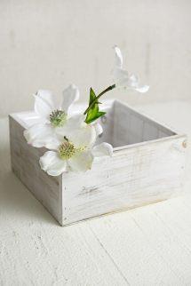 White Wood Square Planter Box 7x7