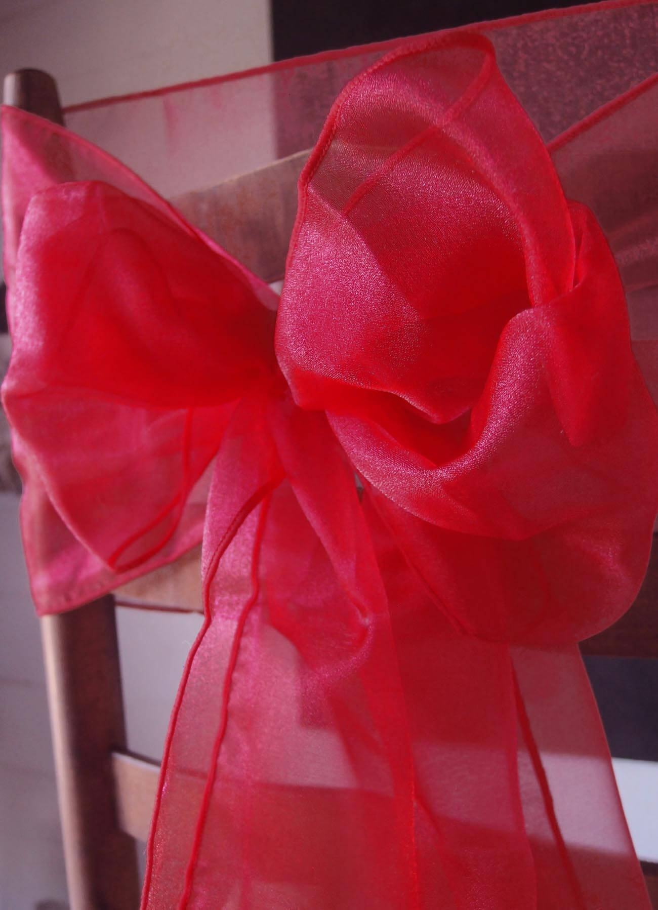 Red Chair Sashes 10 Red Organza Chair Sashes Pack Of 10