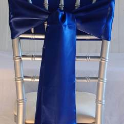 Royal Blue Chairs Cane Occasional Chair 10 Satin Sashes 6x106