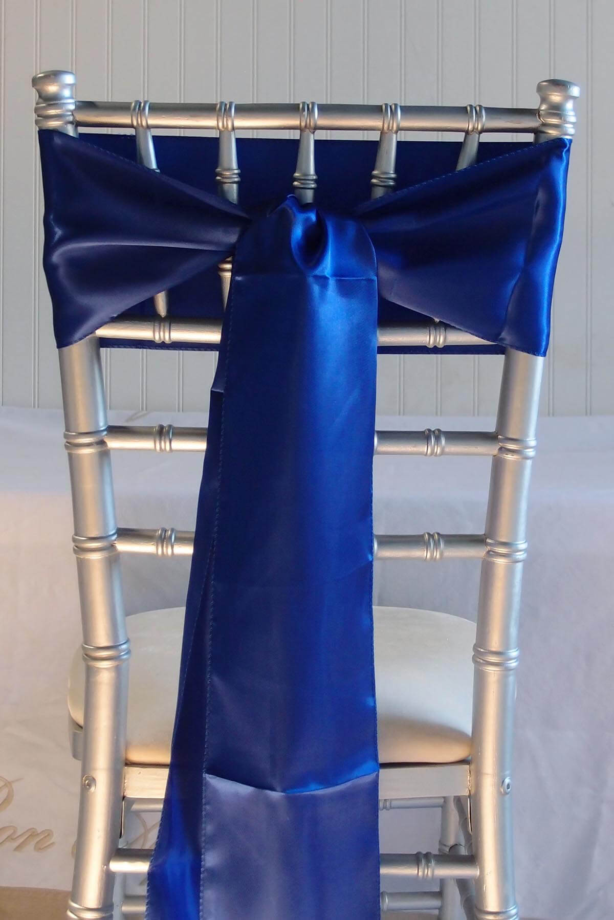 royal blue chair sashes floor cover for under high 10 satin 6x106
