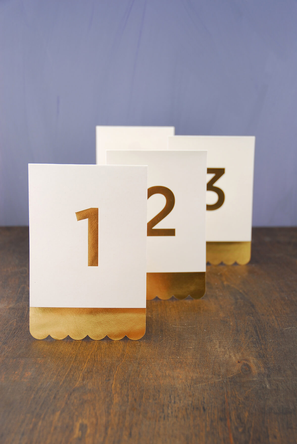 Table Numbers Gold Foil