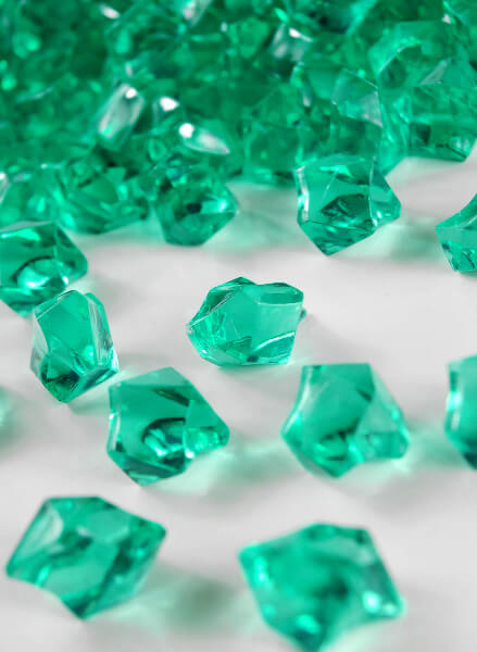 Table Scatter Gems Teal 75 lbs