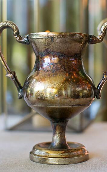 Gold Champion Urn Trophy Vase 10