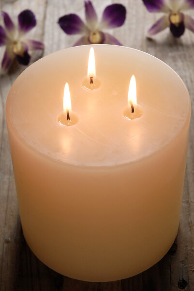 3 Wick Pillar Candle