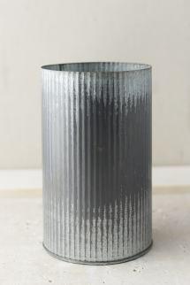 """Norah Corrugated Zinc Vase 7"""""""