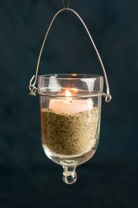 Hanging Candle Holder (set of 6) Clear Glass