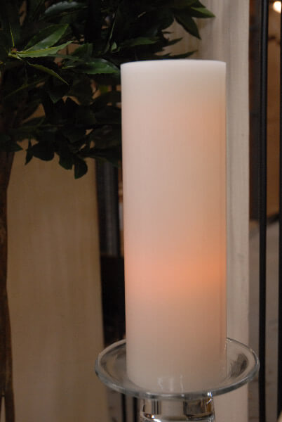 Everlasting Glow LED Wax Candle Straight Edge Pillar