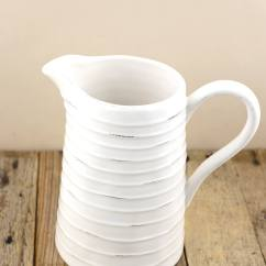 Kitchen Microwave Cart Commercial For Sale Farmhouse White Ceramic Pitcher 8.5in