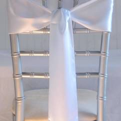 White Chair Sashes Design Ppt 10 Satin 6x106