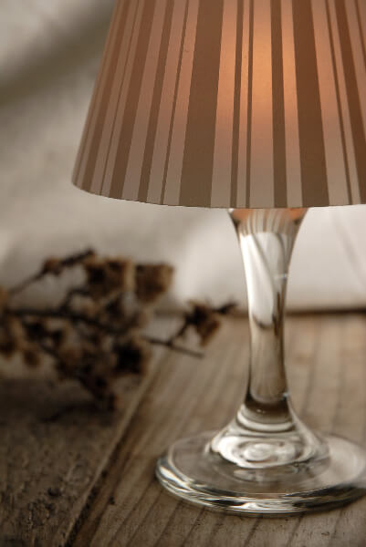 4 Wine Glass Lampshades  Striped