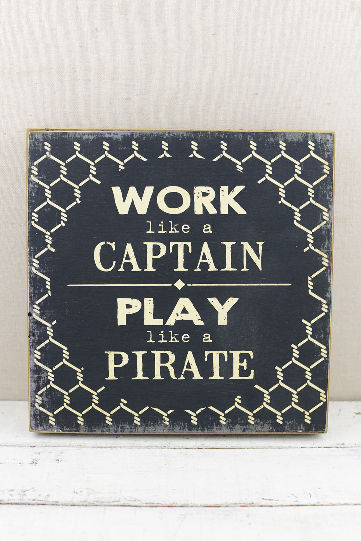 Work Like A Captain Play Like A Pirate Sign 12 X 12