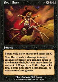 MTG Card: Soul Burn