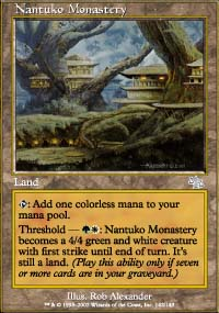 MTG Card: Nantuko Monastery