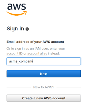 Figure 6: Signing in as an IAM user