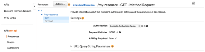 Figure 4: Select your API authorizer