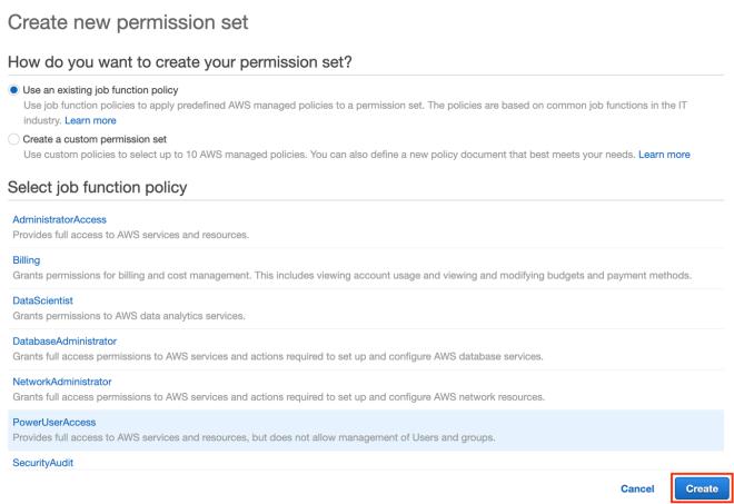 Figure 24: Create permission set