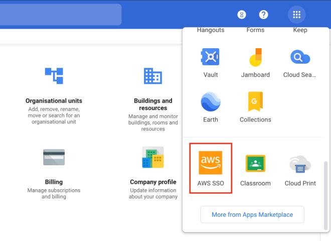 Figure 29: Apps in the user portal