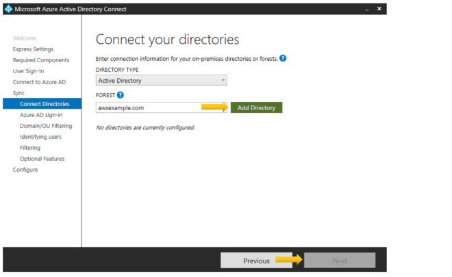 Figure 2: Select a directory to add