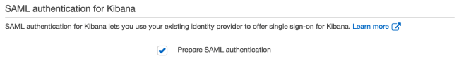 Figure 6: Choose Prepare SAML authentication if you plan to use it