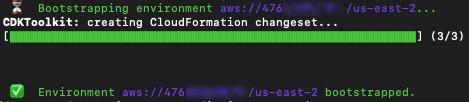Figure 5: CDK bootstrap output