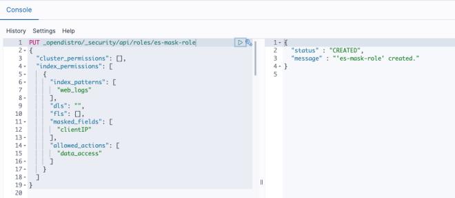 Figure 8: API to create Role