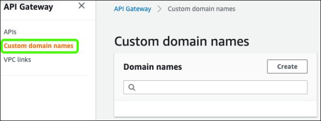 Figure 1: Custom domain names pane