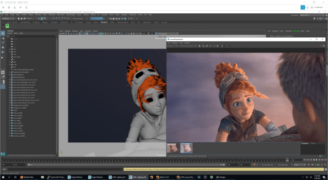 Screenshot of maya lighting