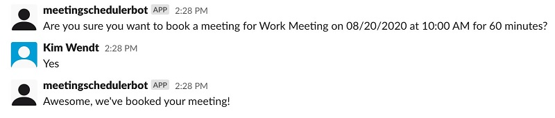 Confirm the details of your scheduled meeting.