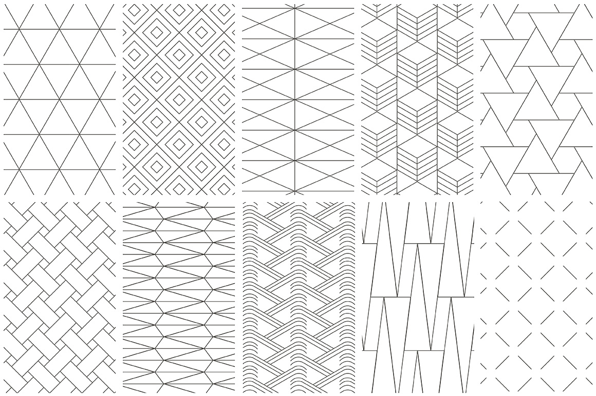 Simple Line Geometric Patterns By Youan