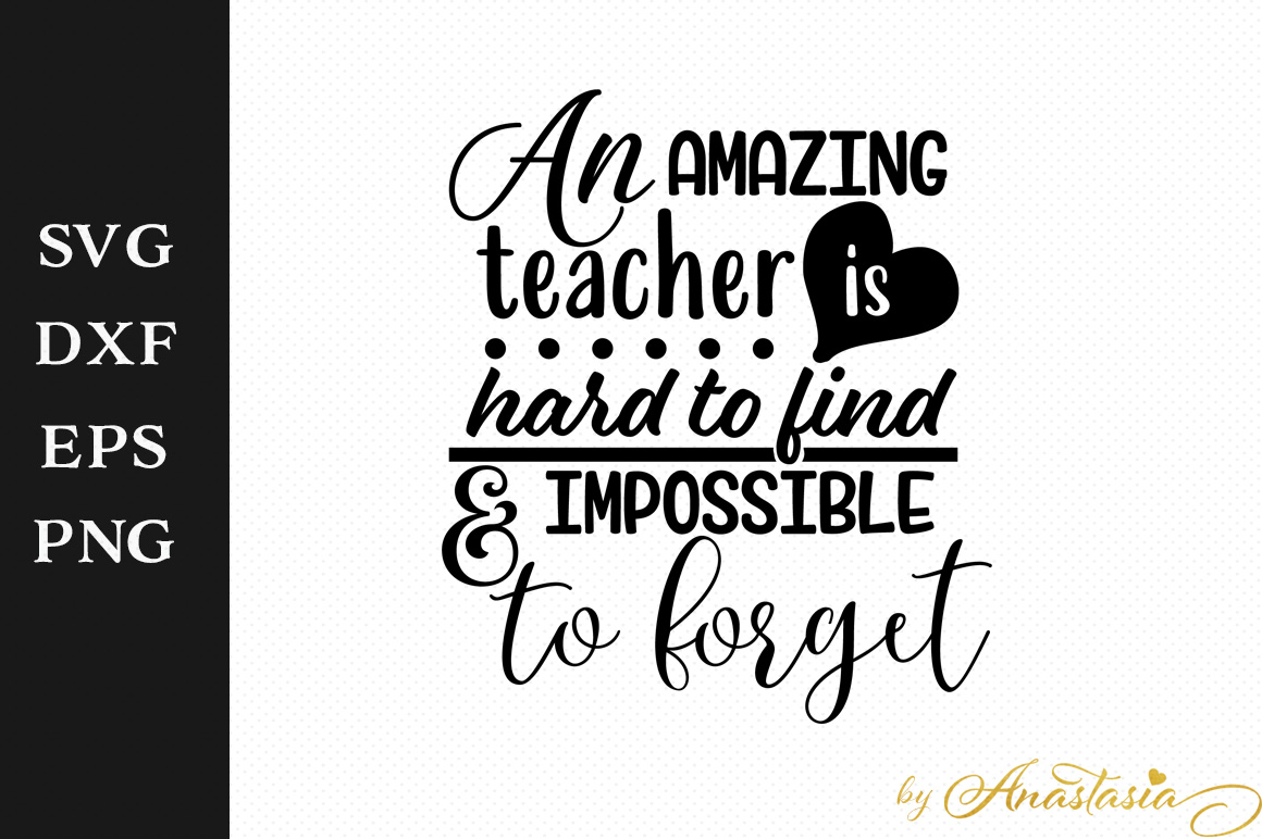 An Amazing Teacher Is Hard To Find And