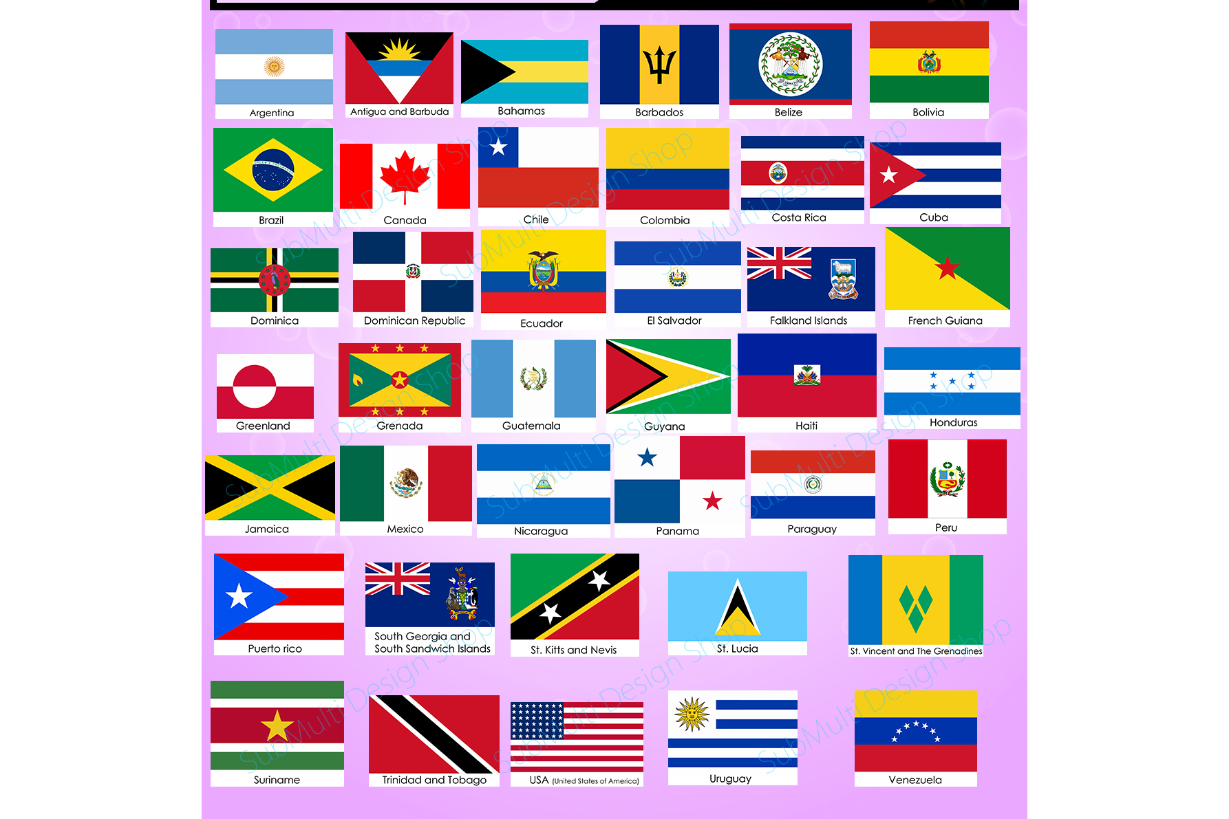 American Countries American Country F