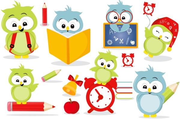 owls in school clipart