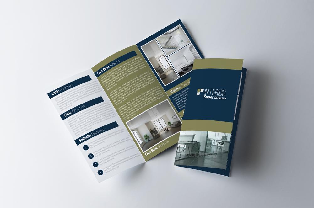 Real Estate Business Trifold Brochure B Design Bundles