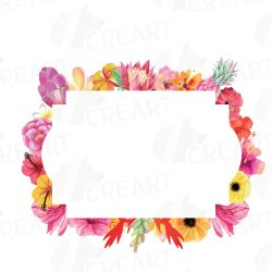 floral clip border frame frames wedding borders sweet watercolor labels digital stamp collection blank graphics jooinn clipground illustration
