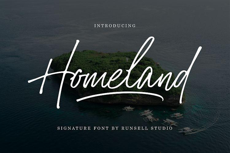 Free Homeland Fontscripts