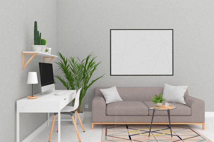 Interior Mockup Blank Wall Mock Up By Design Bundles