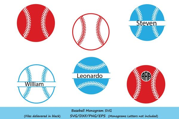 Baseball Svg Monogram Ba Design Bundles
